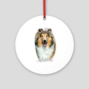Collie Mom2 Ornament (Round)