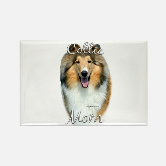 Collie Mom2 Rectangle Magnet