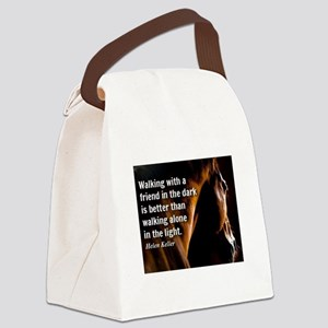 HORSE - Walking with a friend - H Canvas Lunch Bag