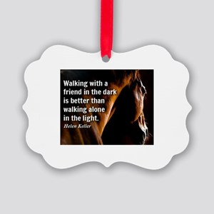 HORSE - Walking with a friend - H Picture Ornament