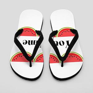 Watermelons Personalized Flip Flops