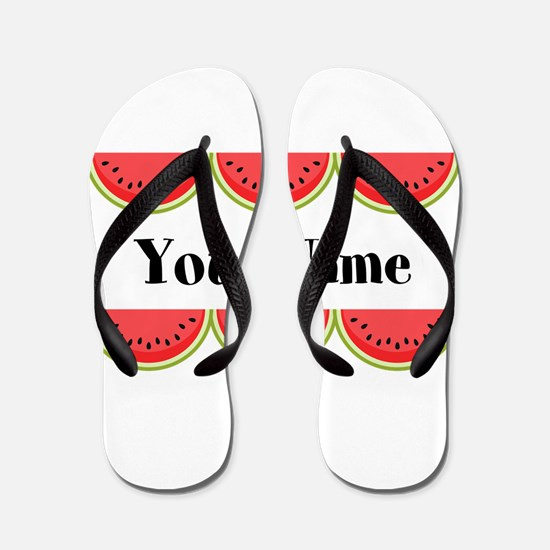 Watermelons Personalized Flip Flops