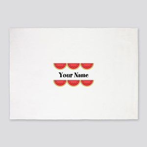 Watermelons Personalized 5'x7'Area Rug
