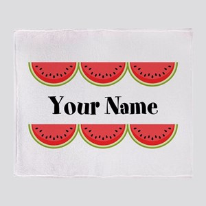 Watermelons Personalized Throw Blanket