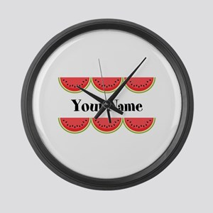 Watermelons Personalized Large Wall Clock