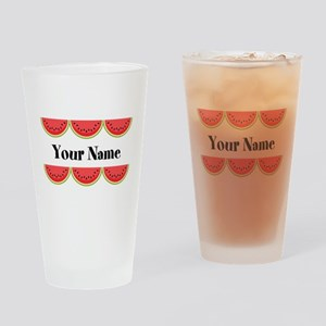 Watermelons Personalized Drinking Glass