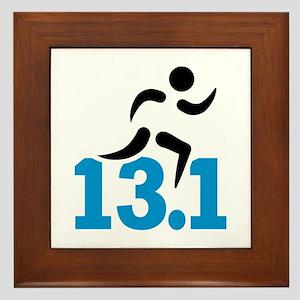 Half marathon 13.1 miles Framed Tile