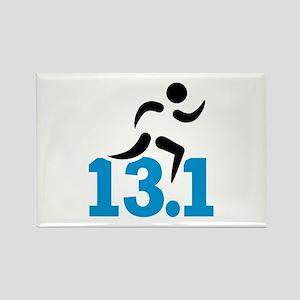 Half marathon 13.1 miles Rectangle Magnet
