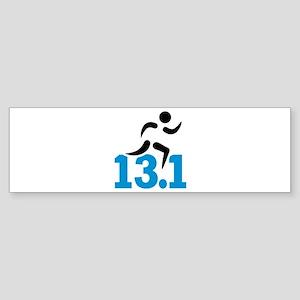 Half marathon 13.1 miles Sticker (Bumper)