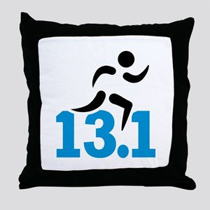 Half marathon 13.1 miles Throw Pillow