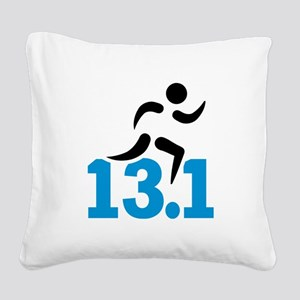 Half marathon 13.1 miles Square Canvas Pillow