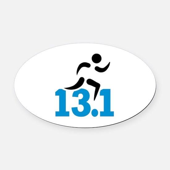 Half marathon 13.1 miles Oval Car Magnet