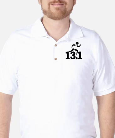 Half marathon runner Golf Shirt