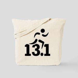Half marathon runner Tote Bag