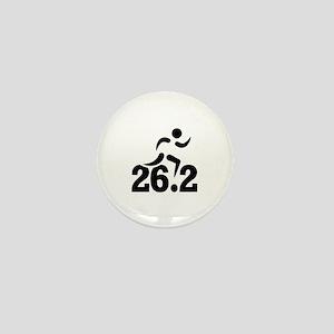 26.2 miles marathon Mini Button