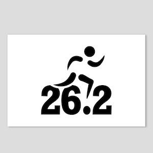 26.2 miles marathon Postcards (Package of 8)