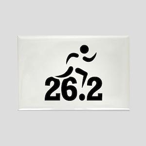 26.2 miles marathon Rectangle Magnet