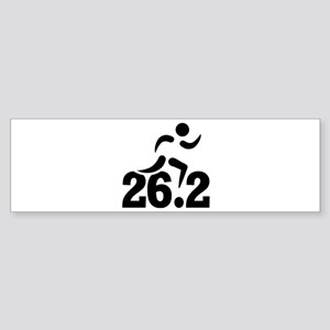 26.2 miles marathon Sticker (Bumper)