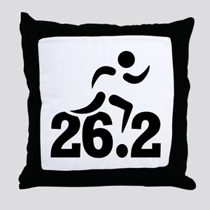 26.2 miles marathon Throw Pillow
