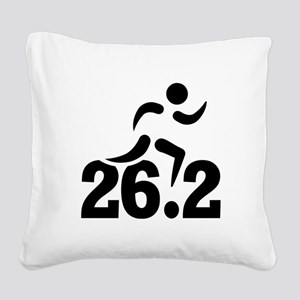 26.2 miles marathon Square Canvas Pillow
