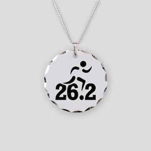 26.2 miles marathon Necklace Circle Charm