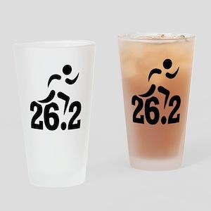 26.2 miles marathon Drinking Glass