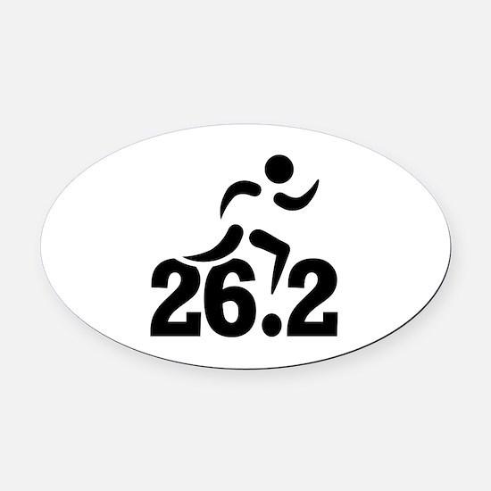 26.2 miles marathon Oval Car Magnet