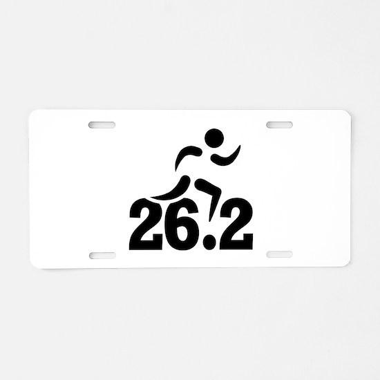26.2 miles marathon Aluminum License Plate