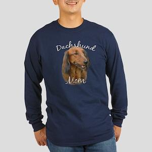 Dachshund Mom2 Long Sleeve Dark T-Shirt