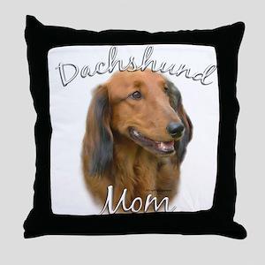 Dachshund Mom2 Throw Pillow