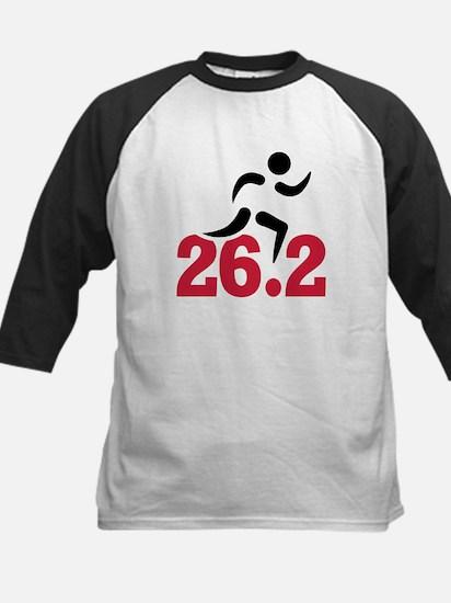 26.2 miles marathon runner Kids Baseball Jersey