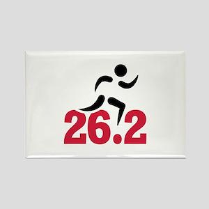 26.2 miles marathon runner Rectangle Magnet
