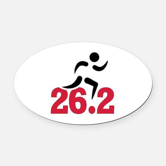 26.2 miles marathon runner Oval Car Magnet