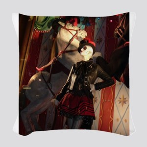 Christmas in New York Woven Throw Pillow