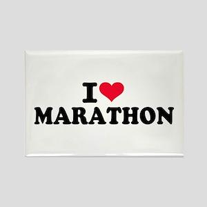 I love Marathon Rectangle Magnet