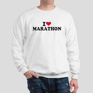 I love Marathon Sweatshirt