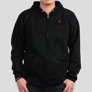 I love Marathon Zip Hoodie (dark)