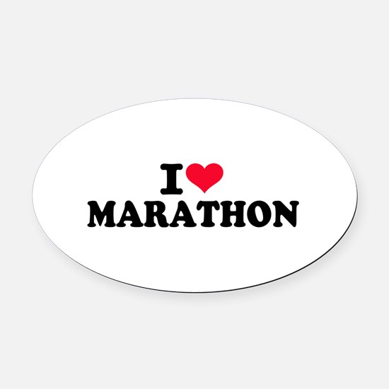 I love Marathon Oval Car Magnet