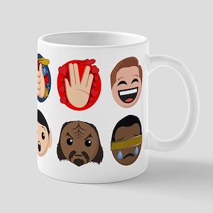 Star Trek Faces and Symbols 11 oz Ceramic Mug