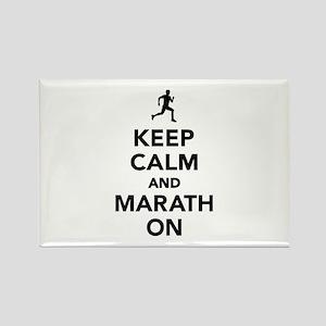 Keep calm and Marathon Rectangle Magnet