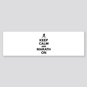 Keep calm and Marathon Sticker (Bumper)