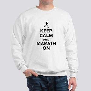 Keep calm and Marathon Sweatshirt