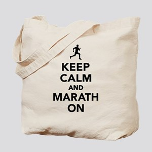 Keep calm and Marathon Tote Bag