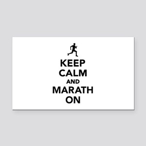 Keep calm and Marathon Rectangle Car Magnet