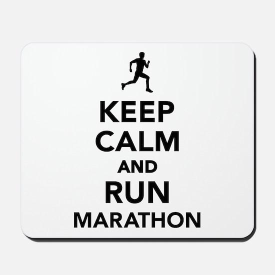 Keep calm and run Marathon Mousepad