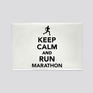 Keep calm and run Marathon Rectangle Magnet