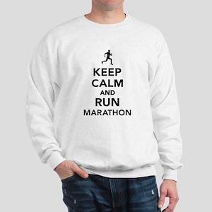 Keep calm and run Marathon Sweatshirt