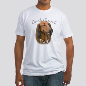 Dachshund Dad2 Fitted T-Shirt