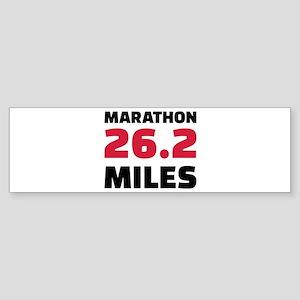 Marathon 26 miles Sticker (Bumper)