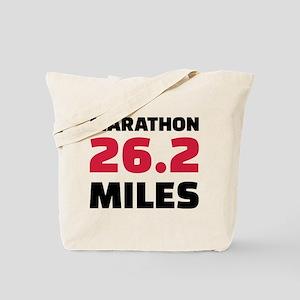 Marathon 26 miles Tote Bag